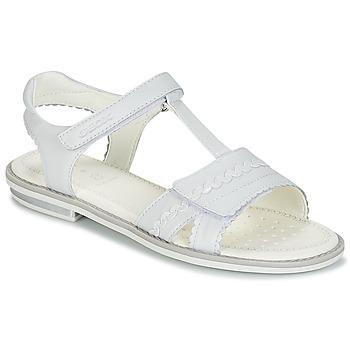 Pantofi Fete Sandale și Sandale cu talpă  joasă Geox J S.GIGLIO A Alb