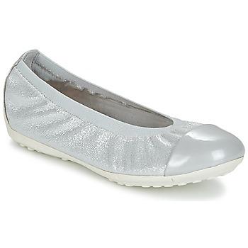 Pantofi Fete Balerin și Balerini cu curea Geox J PIUMA BAL A Gri / Argintiu