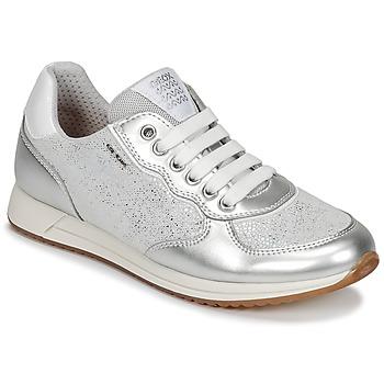 Încăltăminte Fete Pantofi sport Casual Geox J JENSEA G. D Gri / Argintiu