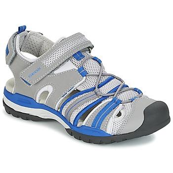 Încăltăminte Băieți Sandale sport Geox J BOREALIS B. C Gri / Albastru