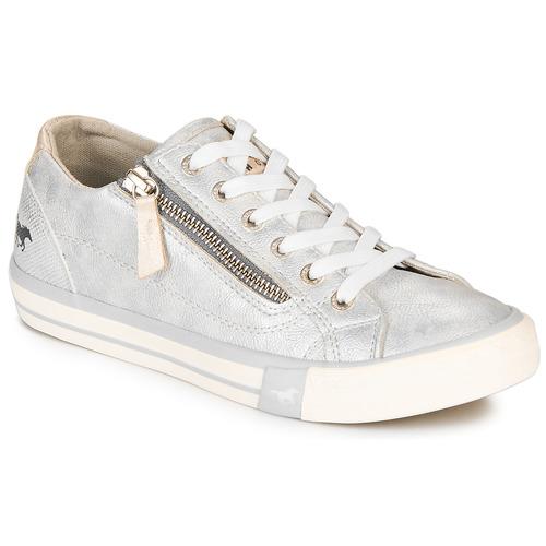 Pantofi Femei Pantofi sport Casual Mustang JOBARIK Argintiu
