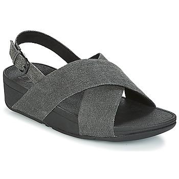 Pantofi Femei Sandale  FitFlop LULU CROSS BACK-STRAP SANDALS Negru