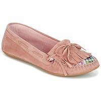 Pantofi Femei Mocasini Ippon Vintage MOC-WAX-ROSE Roz