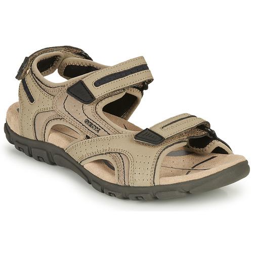 Pantofi Bărbați Sandale sport Geox S.STRADA D Bej-nisip / Negru