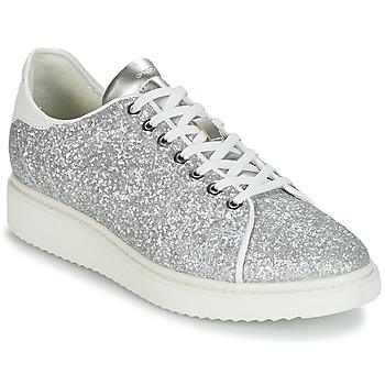 Pantofi Femei Pantofi sport Casual Geox D THYMAR C Argintiu / Alb