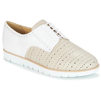 Pantofi Femei Pantofi Derby Geox KOOKEAN Taupe / Alb