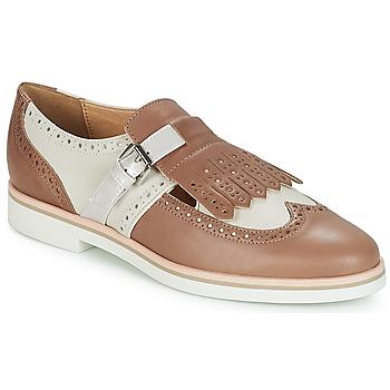 Pantofi Femei Pantofi Derby Geox JANALEE B Bej-nisip / Alb