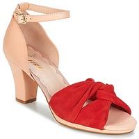 Pantofi Femei Sandale  Miss L'Fire EVIE Roșu / Roz