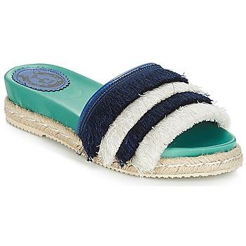 Pantofi Femei Papuci de vară Miss L'Fire ZOEY Albastru / Verde