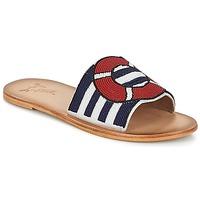 Pantofi Femei Papuci de vară Miss L'Fire ALL ABOARD Albastru