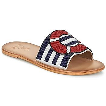 Pantofi Femei Papuci de vară Miss L'Fire ALL ABOARD Bleumarin