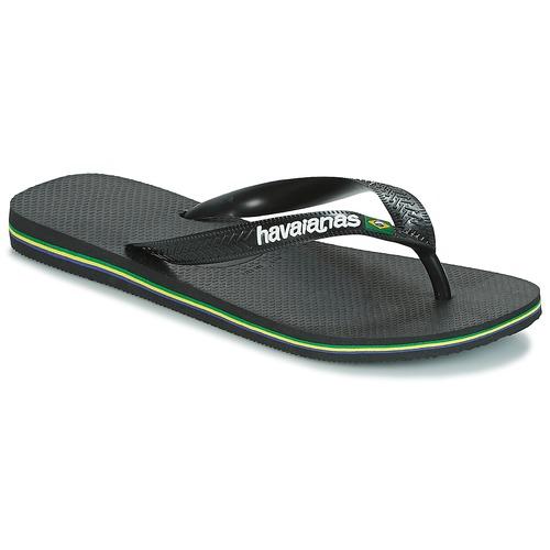 Pantofi  Flip-Flops Havaianas BRAZIL LOGO Negru