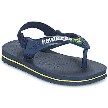 Pantofi Băieți  Flip-Flops Havaianas BABY BRASIL LOGO Bleumarin / Galben