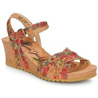 Încăltăminte Femei Sandale și Sandale cu talpă  joasă Panama Jack VERA Roșu