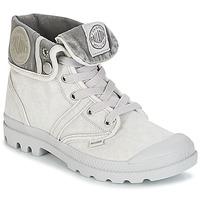 Pantofi Femei Ghete Palladium US BAGGY Gri / Metal