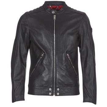 Îmbracaminte Bărbați Jachete din piele și material sintetic Diesel L SQUAD Negru
