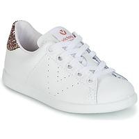 Pantofi Fete Pantofi sport Casual Victoria DEPORTIVO BASKET PIEL KID Alb
