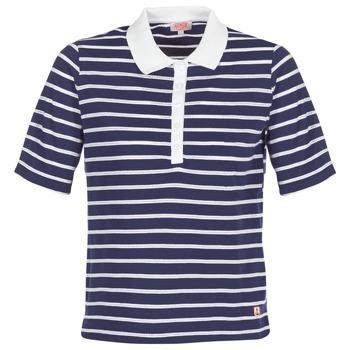 Îmbracaminte Femei Tricou Polo mânecă scurtă Armor Lux POLAED Bleumarin / Alb