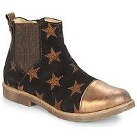 Pantofi Fete Ghete GBB LEONTINA Negru / Bronz