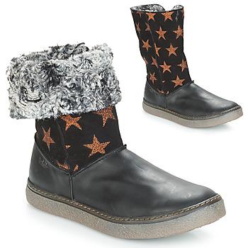 Pantofi Fete Cizme casual Achile DUBROVNIK Negru / Alamă