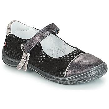 Pantofi Fete Balerin și Balerini cu curea GBB RIKA Gri / Negru