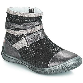Pantofi Fete Ghete GBB ROCHELLE Grsi / Negru