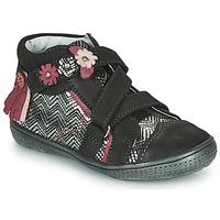 Pantofi Fete Ghete Catimini ROQUETTE Negru / Argintiu