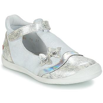 Pantofi Fete Balerin și Balerini cu curea GBB SERENA Alb