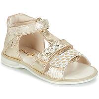 Pantofi Fete Sandale și Sandale cu talpă  joasă GBB SYLVIE Auriu