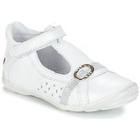 Pantofi Fete Balerin și Balerini cu curea GBB SALOME Alb