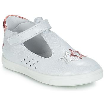 Pantofi Fete Balerin și Balerini cu curea GBB SABRINA Alb