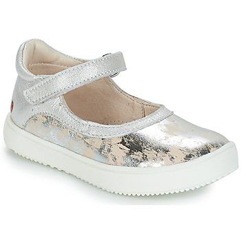 Pantofi Fete Balerin și Balerini cu curea GBB SAKURA Argintiu / Bej