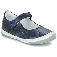 Pantofi Fete Balerin și Balerini cu curea GBB SYRINE Albastru
