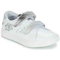 Pantofi Fete Cizme casual GBB SANDRA Alb / Argintiu
