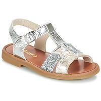 Pantofi Fete Sandale și Sandale cu talpă  joasă GBB SHANTI Argintiu