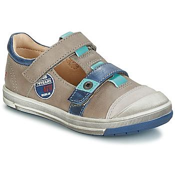 Pantofi Fete Balerin și Balerini cu curea GBB SCOTT Gri / Albastru