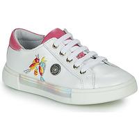 Pantofi Fete Pantofi sport Casual Catimini SYLPHE Alb / Roz