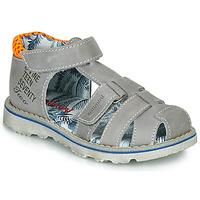 Pantofi Băieți Sandale și Sandale cu talpă  joasă Catimini SYCOMORE Gri / Portocaliu