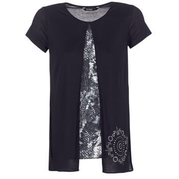 Îmbracaminte Femei Tricouri mânecă scurtă Desigual NUTILAD Negru