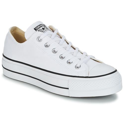 Pantofi Femei Pantofi sport Casual Converse CHUCK TAYLOR ALL STAR LIFT CLEAN OX CORE CANVAS Alb