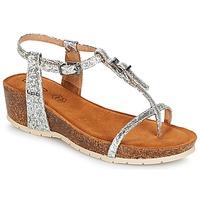 Pantofi Femei Sandale și Sandale cu talpă  joasă Les Petites Bombes KISS Argintiu