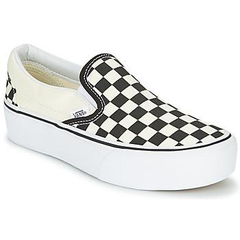 Încăltăminte Femei Pantofi Slip on Vans SLIP-ON PLATFORM Negru / Alb