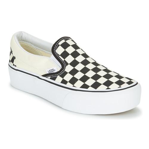 Pantofi Femei Pantofi Slip on Vans SLIP-ON PLATFORM Negru / Alb