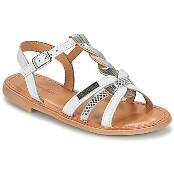 Pantofi Fete Sandale și Sandale cu talpă  joasă Les Tropéziennes par M Belarbi BADAMI Alb / Argintiu