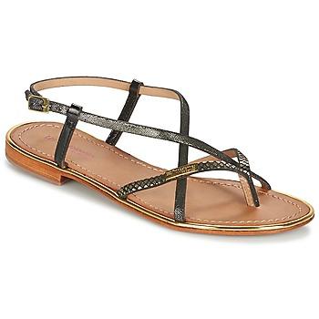 Pantofi Femei Sandale și Sandale cu talpă  joasă Les Tropéziennes par M Belarbi MONACO Negru / Auriu