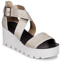 Pantofi Femei Sandale și Sandale cu talpă  joasă Sweet Lemon SUBWAY Argintiu