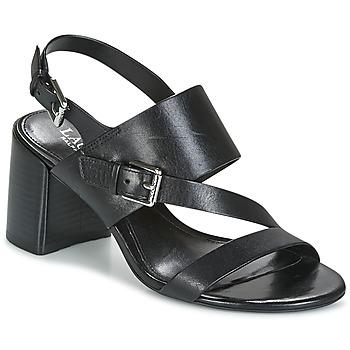 Pantofi Femei Sandale și Sandale cu talpă  joasă Lauren Ralph Lauren FLORIN Negru