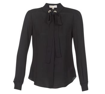 Îmbracaminte Femei Topuri și Bluze MICHAEL Michael Kors GROMMET NK TIE BLSE Negru