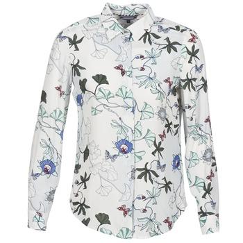 Îmbracaminte Femei Cămăși și Bluze Tommy Hilfiger MIRAN-SHIRT-LS Alb
