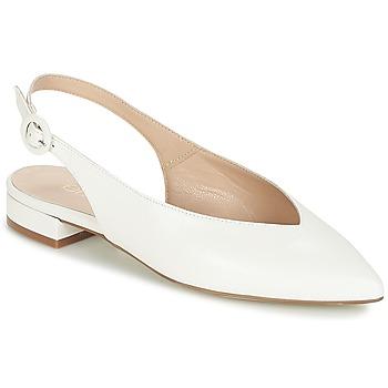 Pantofi Femei Balerin și Balerini cu curea Fericelli IKIRUA Alb